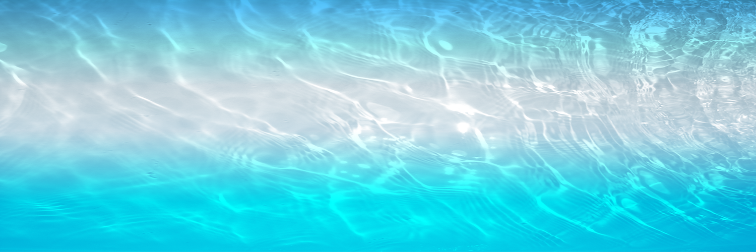 Turquoise blue water ombre combined two images creating this ombre effect